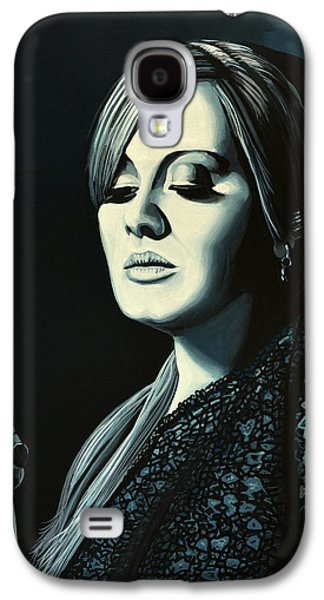 Adele Skyfall Painting Galaxy S4 Case by Paul Meijering