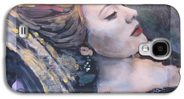 Adele Paintings Galaxy S4 Cases - Adele Skyfall Galaxy S4 Case by Vikram Singh