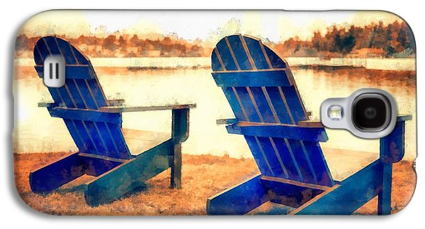 Adirondack Chairs By The Lake Galaxy S4 Case by Edward Fielding