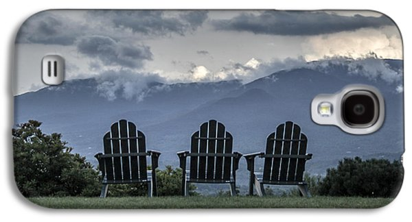Chair Pyrography Galaxy S4 Cases - Adirondack Chairs Galaxy S4 Case by George Blaney