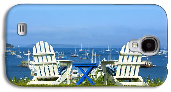 Chair Galaxy S4 Cases - Adirondack Chairs Overlooking the Ocean Galaxy S4 Case by Diane Diederich