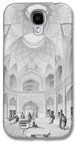Plans Paintings Galaxy S4 Cases - Adji Seid Hussein Bazaar Galaxy S4 Case by Pascal Xavier Coste