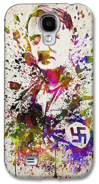 Politician Galaxy S4 Cases - Adolf Hitler in Color Galaxy S4 Case by Aged Pixel