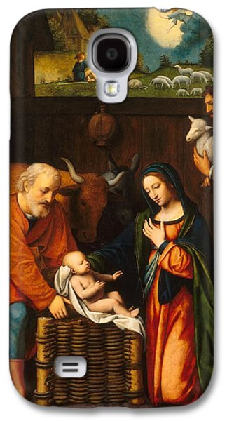 Jesus Drawings Galaxy S4 Cases - Adoration of the Christ Child  Galaxy S4 Case by Celestial Images