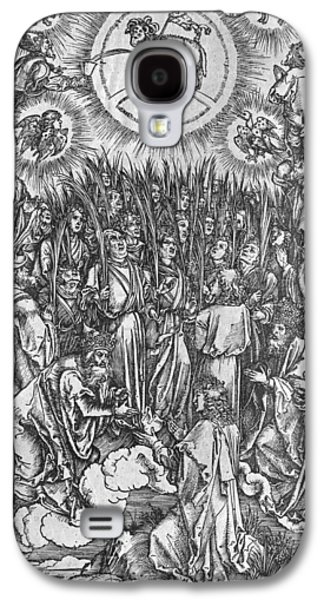 Worship Drawings Galaxy S4 Cases - Adoration of the Lamb Galaxy S4 Case by Albrecht Durer or Duerer