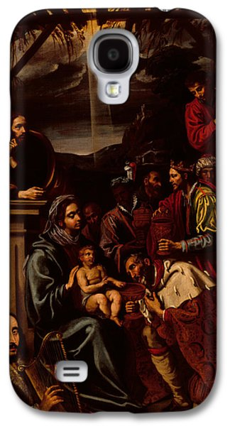 The Kings Paintings Galaxy S4 Cases - Adoration of the Magi Galaxy S4 Case by Unknown