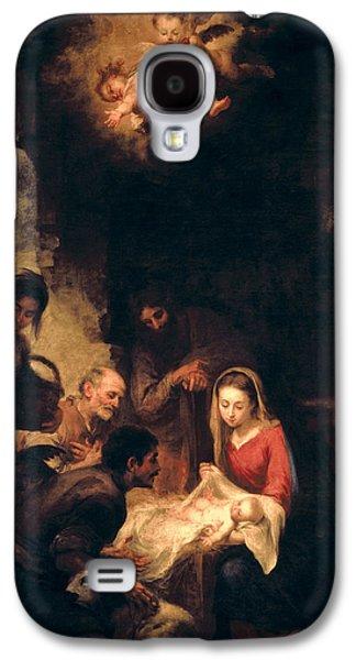 Bethlehem Galaxy S4 Cases - Adoration of the Shepherds Galaxy S4 Case by Bartolome Esteban Murillo