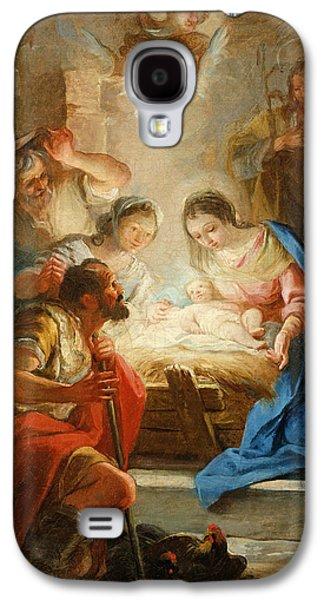 Jesus Photographs Galaxy S4 Cases - Adoration Of The Shepherds Galaxy S4 Case by Mariano Salvador de Maella