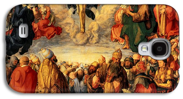 Crucifixtion Galaxy S4 Cases - Adoration of the Trinity Galaxy S4 Case by Albrecht Durer