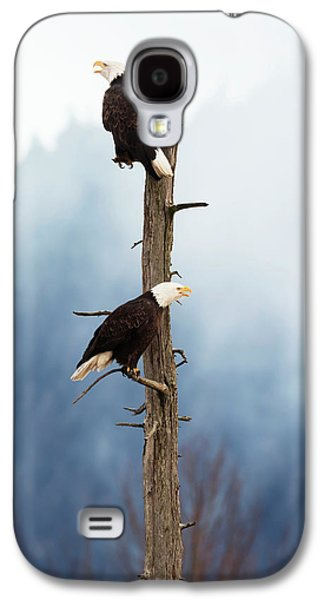 Adult Bald Eagles  Haliaeetus Galaxy S4 Case by Doug Lindstrand