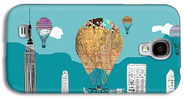 Skylines Mixed Media Galaxy S4 Cases - Adventure Days New York Galaxy S4 Case by Bri Buckley