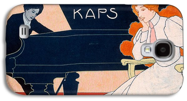 Playing Drawings Galaxy S4 Cases - Advertisement for Kaps Pianos Galaxy S4 Case by Hans Pfaff