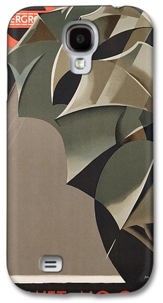 20s Galaxy S4 Cases - Advertisement for the London Underground Galaxy S4 Case by Manner