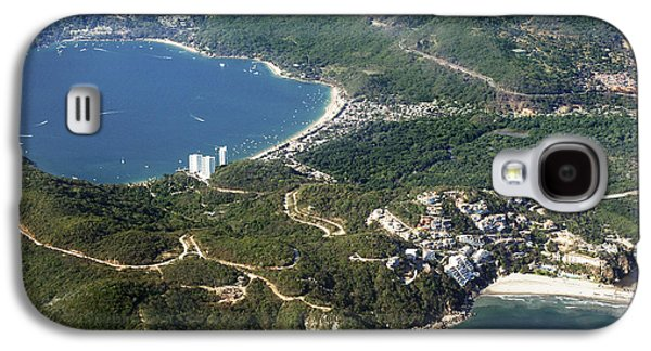 Deer At The Beach Galaxy S4 Cases - Aerial  of Acapulco Bay Mexico from Both Sides Galaxy S4 Case by Jodi Jacobson