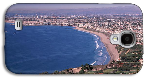 Aerial View Of A City At Coast, Santa Galaxy S4 Case by Panoramic Images