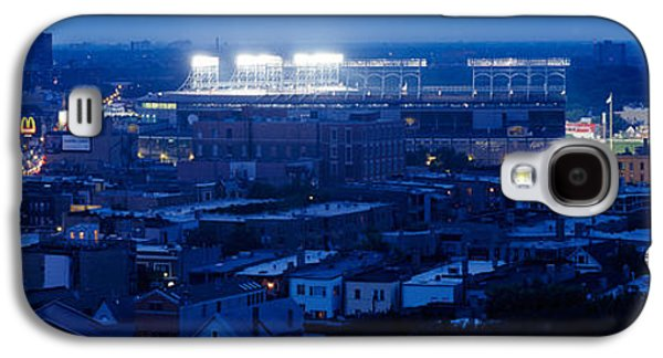 Wrigley Field Galaxy S4 Cases - Aerial View Of A City, Wrigley Field Galaxy S4 Case by Panoramic Images