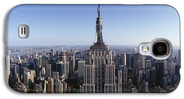 City Scene Galaxy S4 Cases - Aerial View Of A Cityscape, Empire Galaxy S4 Case by Panoramic Images