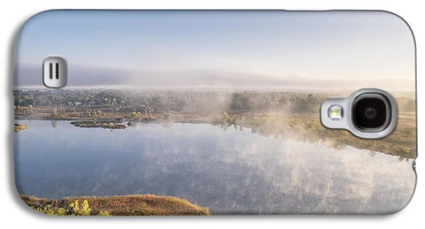 Fort Collins Galaxy S4 Cases - Aerial View Of A Foggy Lake Galaxy S4 Case by Marek Uliasz