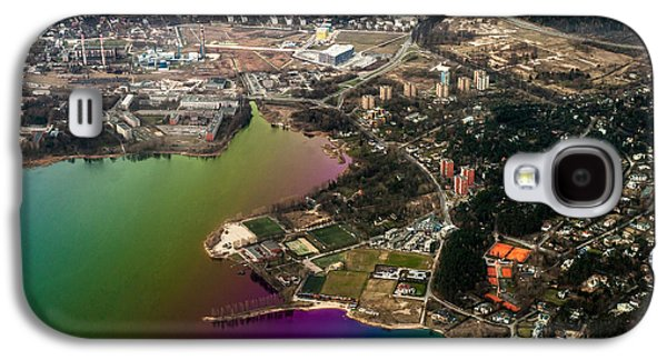Unique View Galaxy S4 Cases - Aerial View of Bay. Rainbow Earth Galaxy S4 Case by Jenny Rainbow