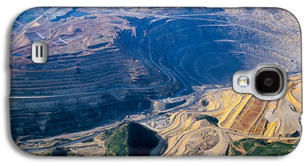 Recently Sold -  - Landscapes Photographs Galaxy S4 Cases - Aerial View Of Copper Mines, Utah, Usa Galaxy S4 Case by Panoramic Images