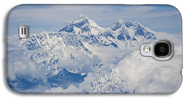 Best Sellers -  - Original Photographs Galaxy S4 Cases - Aerial view of Mount Everest Galaxy S4 Case by Hitendra SINKAR