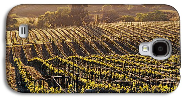 Vineyard In Napa Galaxy S4 Cases - Aerial View Of Rows Crop In A Vineyard Galaxy S4 Case by Panoramic Images