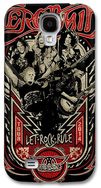 Music Photographs Galaxy S4 Cases - Aerosmith - Let Rock Rule World Tour Galaxy S4 Case by Epic Rights