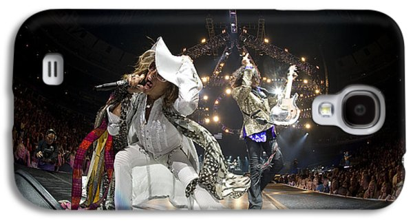Music Photographs Galaxy S4 Cases - Aerosmith - On Stage 2012 Galaxy S4 Case by Epic Rights