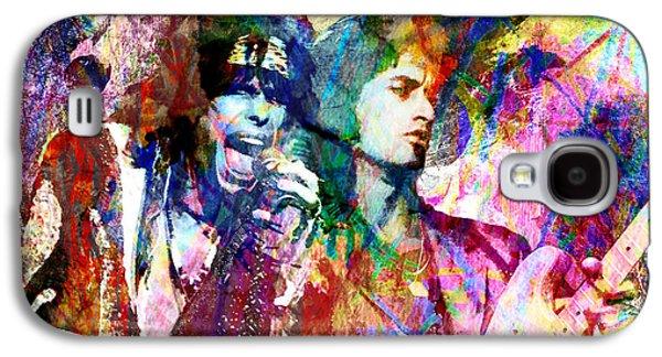 Steven Tyler Paintings Galaxy S4 Cases - Aerosmith Original Painting Galaxy S4 Case by Ryan RockChromatic