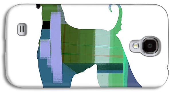 Dogs Mixed Media Galaxy S4 Cases - Afghan Hound 1 Galaxy S4 Case by Naxart Studio