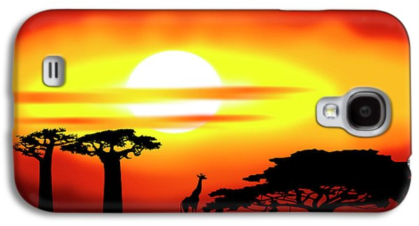 Gloaming Galaxy S4 Cases - Africa sunset Galaxy S4 Case by Michal Boubin