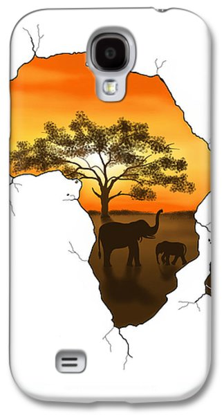 Digital Galaxy S4 Cases - Africa Galaxy S4 Case by Veronica Minozzi
