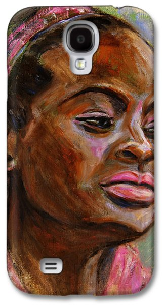 African-american Galaxy S4 Cases - African American 3 Galaxy S4 Case by Xueling Zou