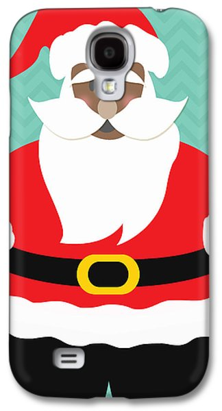 African-americans Galaxy S4 Cases - African American Santa Claus Galaxy S4 Case by Linda Woods