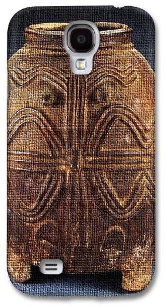 Ancient Ceramics Galaxy S4 Cases - African Art Galaxy S4 Case by Caroline Nordin