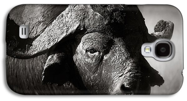 Dirty Galaxy S4 Cases - African buffalo bull close-up Galaxy S4 Case by Johan Swanepoel