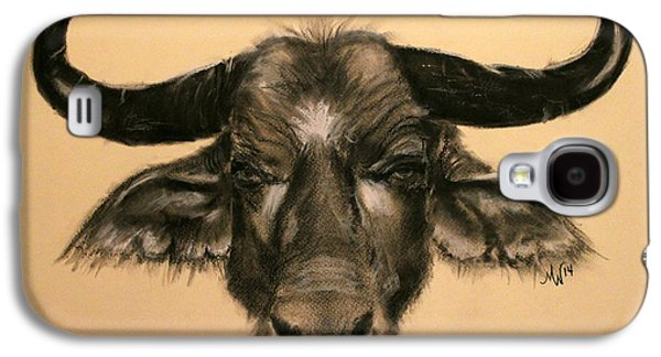 Bison Pastels Galaxy S4 Cases - African Buffalo Galaxy S4 Case by Michelle Wolff