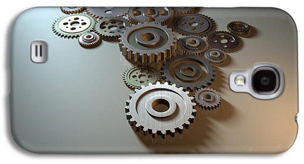 Mechanism Digital Art Galaxy S4 Cases - African Cogwheel Machine Galaxy S4 Case by Allan Swart