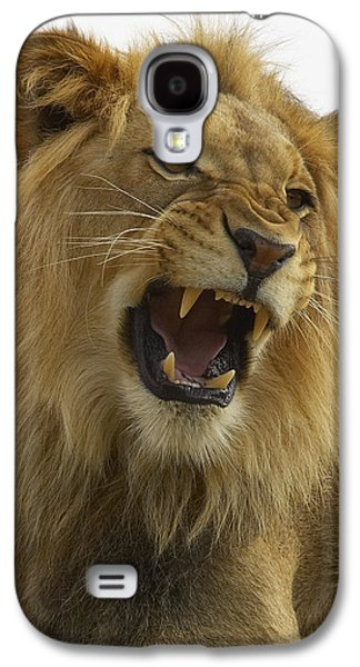 Growling Galaxy S4 Cases - African Lion Male Growling Galaxy S4 Case by San Diego Zoo