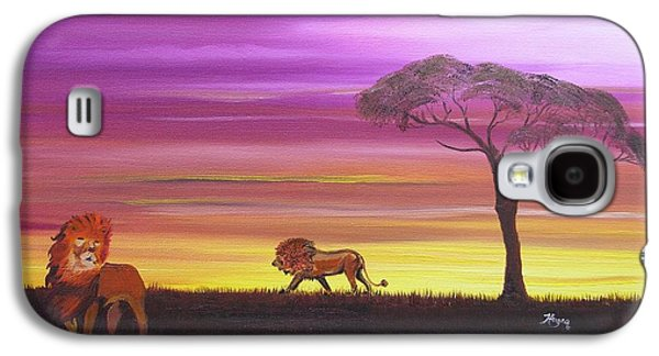 African Lions Galaxy S4 Case by Barbara Hayes