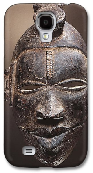 Native American Spirit Portrait Galaxy S4 Cases - African tribal mask Ogoni from Nigeria Galaxy S4 Case by Magdalena Walulik