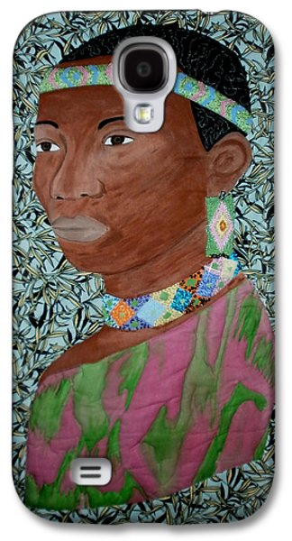 African-americans Tapestries - Textiles Galaxy S4 Cases - African Queen Galaxy S4 Case by Linda Egland
