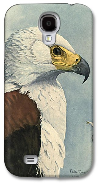 1874 Galaxy S4 Cases - African Sea Eagle  Galaxy S4 Case by Louis Agassiz Fuertes
