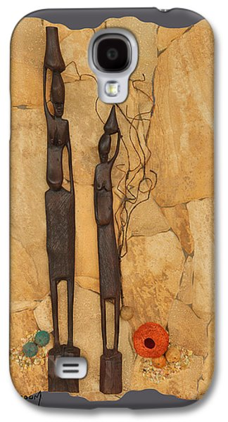Ceramic Mixed Media Galaxy S4 Cases - African Sisters Galaxy S4 Case by Dawn Broom