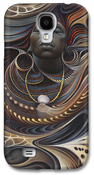 Earth Tones Galaxy S4 Cases - African Spirits I Galaxy S4 Case by Ricardo Chavez-Mendez