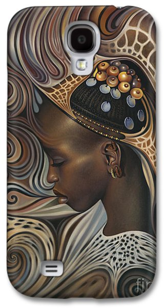 Earth Tones Galaxy S4 Cases - African Spirits II Galaxy S4 Case by Ricardo Chavez-Mendez