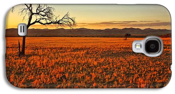 Landscape With Mountains Galaxy S4 Cases - African Sunset Galaxy S4 Case by Kate McKenna