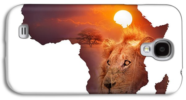 Concept Photographs Galaxy S4 Cases - African Wildlife Map Galaxy S4 Case by Johan Swanepoel