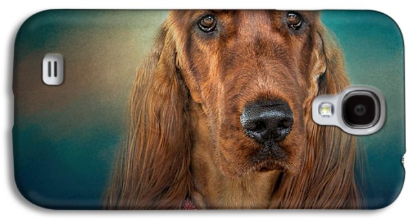 Mahogany Red Galaxy S4 Cases - After A Swim - Irish Setter - Dog Art Galaxy S4 Case by Jai Johnson