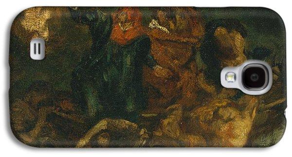 Delacroix Galaxy S4 Cases - after Delacroixs Bark of Dante Galaxy S4 Case by Edouard Manet